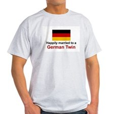 German Twins (Married To) Ash Grey T-Shirt