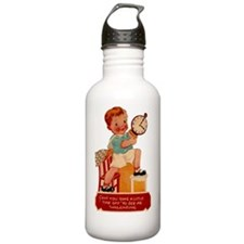 VAL-boy-clock Water Bottle