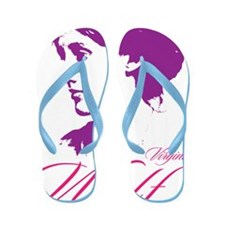 Virginia Woolf Flip Flops