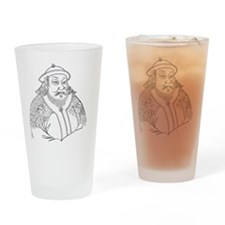 Portrait of Kublai Kaan fr Chinese  Drinking Glass