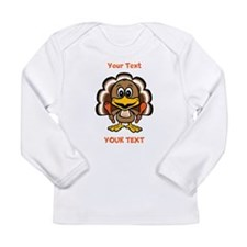 Personalize Little Gobbler Long Sleeve Infant T-Sh