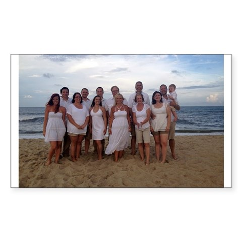 Family Beach Picture Decal