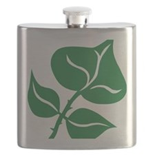 WILD Leaf green vector BIG2 Flask