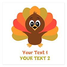 Personalize Little Turkey Invitations