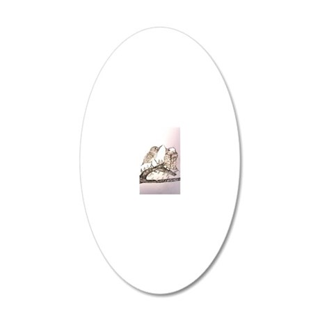 TomerTal two birds 20x12 Oval Wall Decal