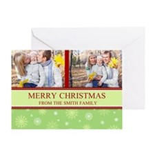 Colorful Snow Christmas Photo Greeting Card