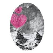 volcanoes image Oval Ornament