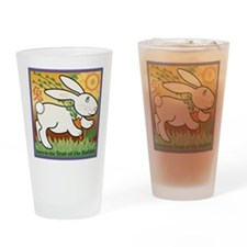 RabbitTshirt Drinking Glass