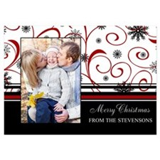 Family Photo Christmas 5X7 Flat Cards