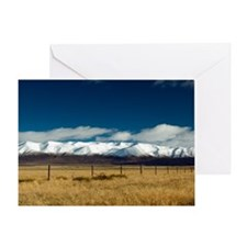 5145-Ben-Ohau-range--wheat Greeting Card