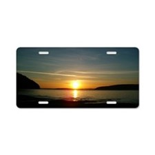 sunset2 Aluminum License Plate