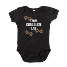 Team Chocolate Lab Baby Bodysuit
