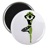 Green Tree Asana Magnet