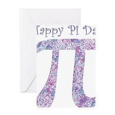 Pi Day Girly Paint Splatter Greeting Card