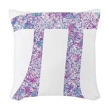Pi Day Girly Paint Splatter Woven Throw Pillow
