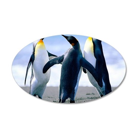 Penguins 35x21 Oval Wall Decal