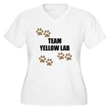 Team Yellow Lab Plus Size T-Shirt