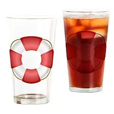Life Preserver Drinking Glass