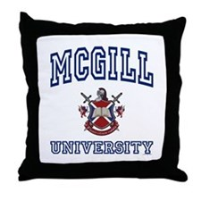 MCGILL University Throw Pillow