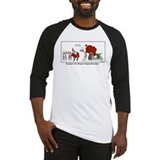 Brown Nosed Reindeer Baseball Jersey