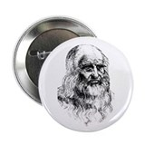 "Leonardo da Vinci 2.25"" Button (10 pack)"