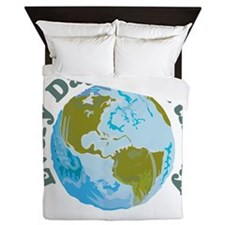 Earth_Button Queen Duvet