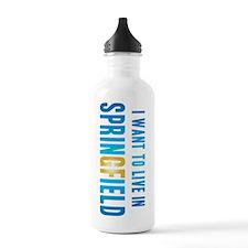 IWantToLiveInSpringfie Water Bottle