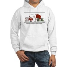Brown Nosed Reindeer Hoodie Sweatshirt