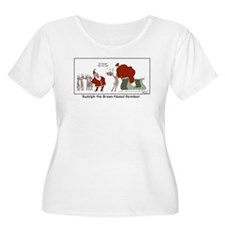 Brown Nosed Reindeer Plus Size T-Shirt