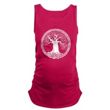 Celtic Tree I.V. Maternity Tank Top (Dark)