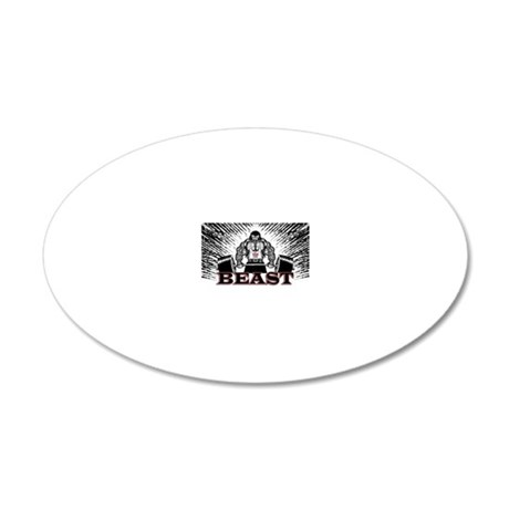The Beast Poster 20x12 Oval Wall Decal