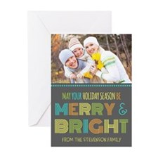 Merry And Bright Christmas Greeting Cards