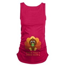 Personalize Baby Turkey Maternity Tank Top