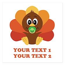 Personalize Baby Turkey Invitations