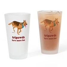 Tripawds Have More Fun Three Legged Drinking Glass