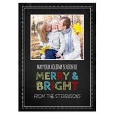 Chalkboard Christmas Photo 5X7 Flat Cards