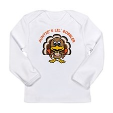 Auntie's Lil' Gobbler Long Sleeve Infant T-Shirt