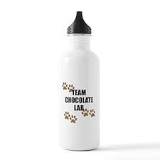 Team Chocolate Lab Water Bottle