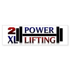 2XL Powerlifting Bumper Sticker