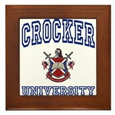 CROCKER University Framed Tile