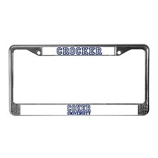 CROCKER University License Plate Frame