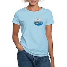 Amity Buffet Shark Women's Pink T-Shirt