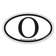 Obama Euro Oval Decal