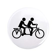"Tandem Bicycle bike 3.5"" Button"