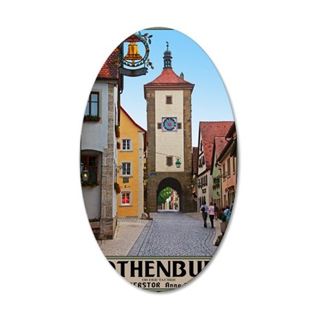 Rothenburg od Tauber - Siebe 35x21 Oval Wall Decal