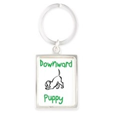 downward puppy Portrait Keychain