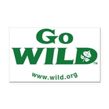 Go WILD logo TM Rectangle Car Magnet