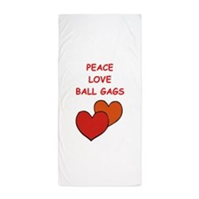 BALL gags Beach Towel