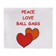 BALL gags Throw Blanket