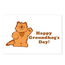 Groundhog's Day! Postcards (Package of 8)